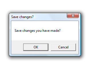 Save Changes Prompt